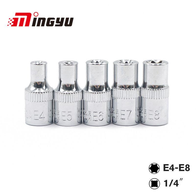 5 stück 1/4 Zoll (6,3mm) Torx Stern Bit Weibliche E Buchse Set E4, E5, e6, E7, E8, E10 Stern Buchse Set Handwerkzeuge Set
