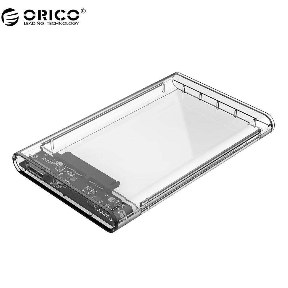 ORICO 2139U3 Hard Drive Enclosure 2.5 inch Transparent USB3.0 Hard Drive Enclosure Support UASP Protocol for 7-9.5 mm HDD