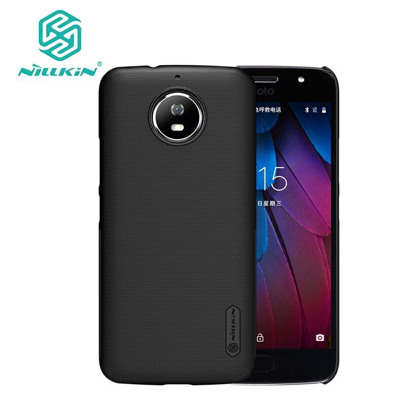 For motorola g5s cover case 5.2 inch Nillkin Frosted hard plastic back cover capa for moto g5s case with Screen Protector