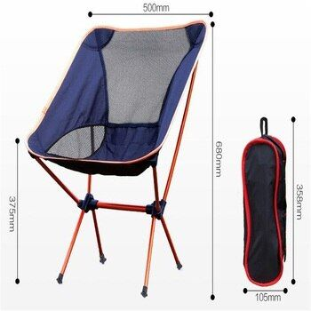 Aluminum Alloy Folding Beach Chair Portable Outdoor Fishing Chair Ultra-Light Camping Leisure Chair