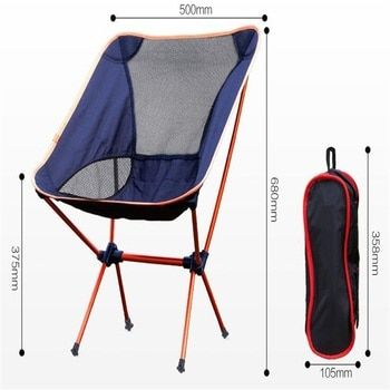 Aluminum Alloy Folding Beach Chair Portable Outdoor Fishing Chair Ultra-Light Camping Leisure Chair