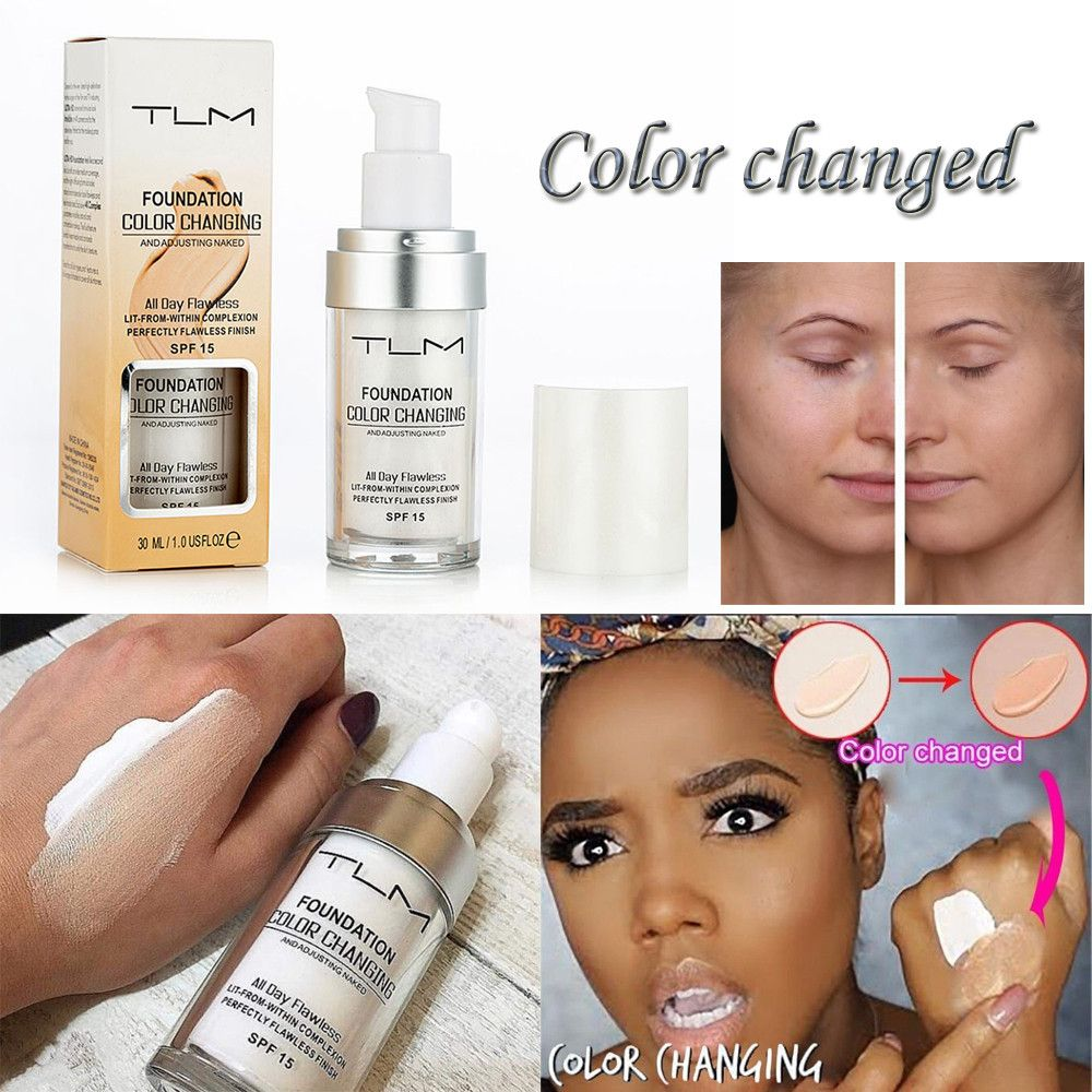 SALE Flawless Colour Changing Foundation Makeup Base Nude Face Liquid Cover Concealer Longlasting Makeup Gift sombras Skin care