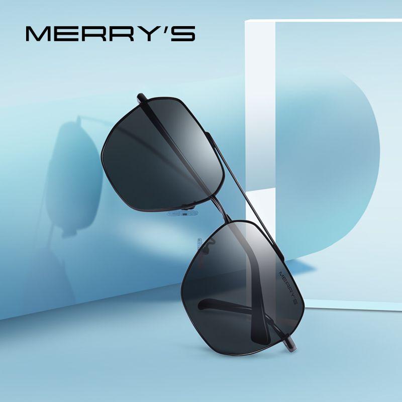 MERRYS DESIGN Men Classic Square Sunglasses Aviation Frame HD Polarized Sunglasses For Men Driving UV400 Protection S8211