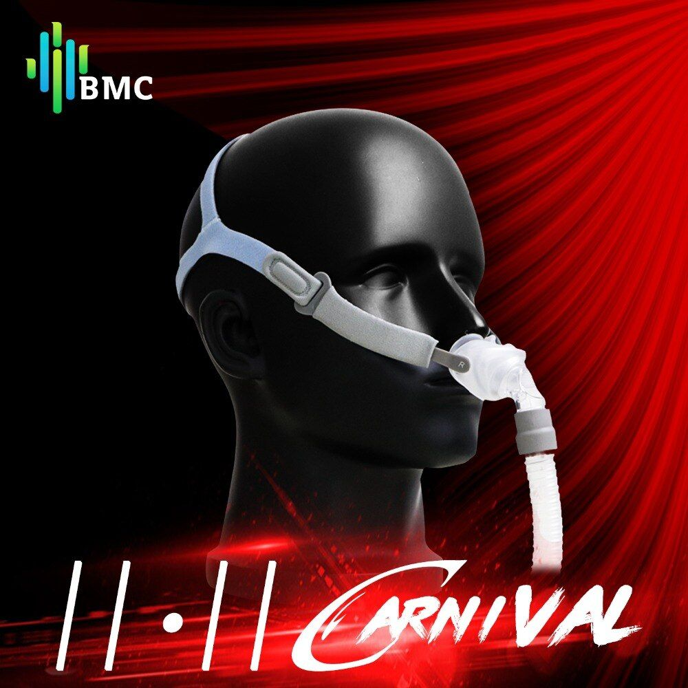 BMC P2 Nasal Pillows Mask Light Sleep Mask for CPAP Medical Machines Buy One Get S/M/L Three Size Cushions