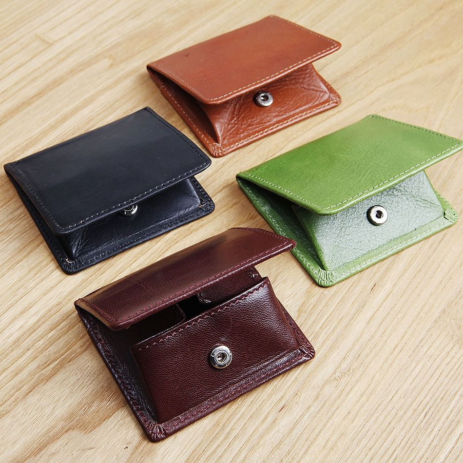 LANSPACE leather coin bags men's leather wallet  mini change purse unisex coin purses holders