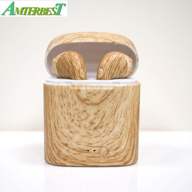 AMTERBEST Personnalisé Produit I7 Coloré dessin écouteurs Bluetooth Twis Bluetooth V4.2 casque stéréo Écouteur pour Bluetooth dispositif