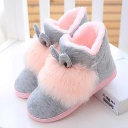 Invierno Caliente del oído de conejo de peluche engrosamiento antideslizante inicio Zapatos