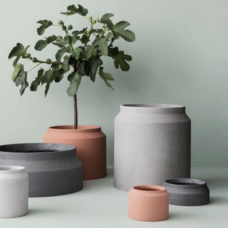 European style concrete Pot mold Round flowerpot mold Nordic simple style cement flower pot molds