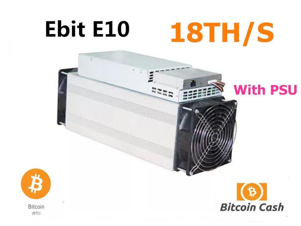 Verwendet Ebit E10 18TH/S Mit NETZTEIL Asic Bitecoin BCH BTC Miner Wirtschafts Als BITMAIN Antminer S9 S9j S11 s15 T15 WhatsMiner M3 M10