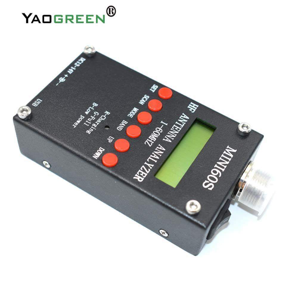USB High Precison bluetooth Android HF ANT SWR Analyzer 1-60MHz Mini60 MINI60S Antenna Meter For Ham Radio C4-006