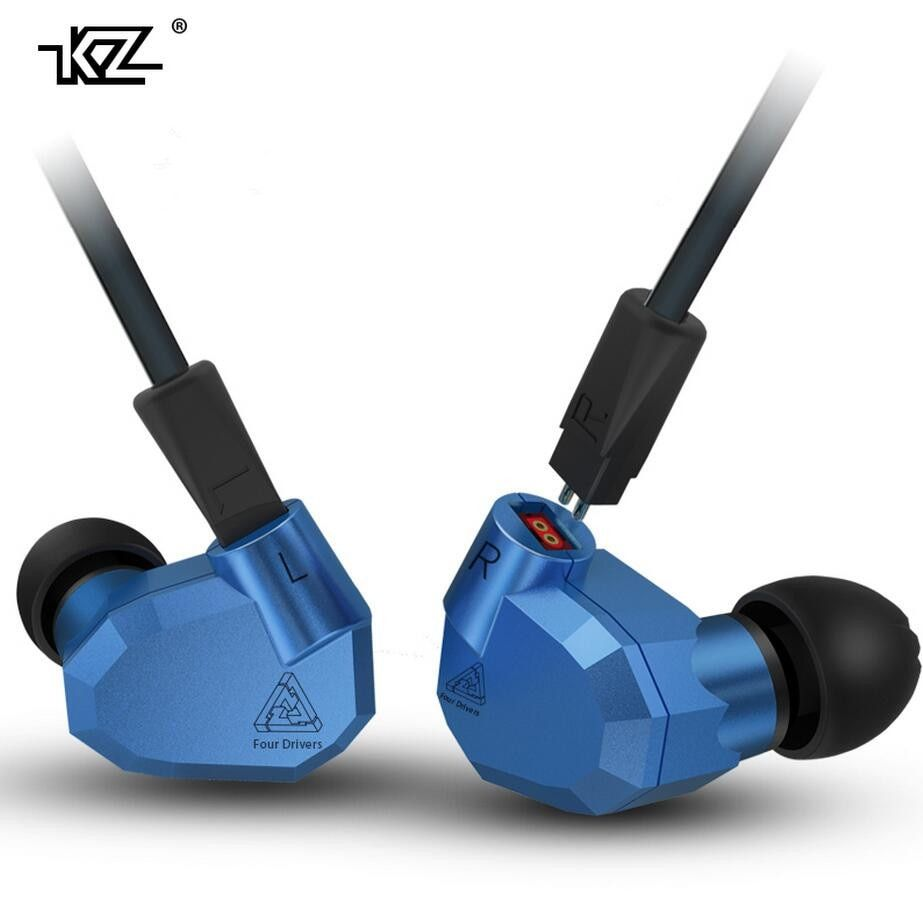 Original KZ ZS5 2DD+2BA Hybrid In Ear Earphone HIFI DJ Monito Running Sport Earphones Earplug Headset Earbud Two Colors