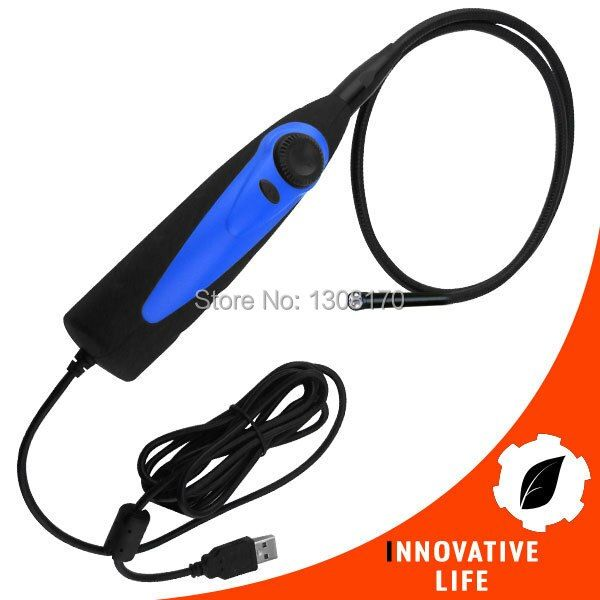 Industrial USB 1.1 or 2.0 Interface Video Inspection Borescope Endoscope 830mm Flexible Tube with 7mm Waterproof Camera Head