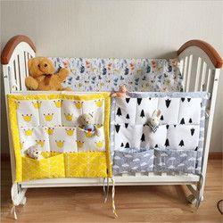 2017 nueva promoción de la moda! Multi-funcional 55*60 cm bebé seguro para dormir cama Parachoques suave cama cuna colgante almacenamiento bolsa