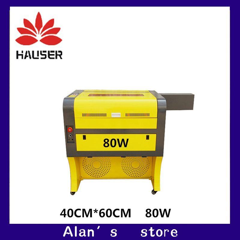 Free shipping 80w4060 co2 laser engraving machine, 220v110V CNC laser cutt machine, CNC engraving machine, laser marking machine