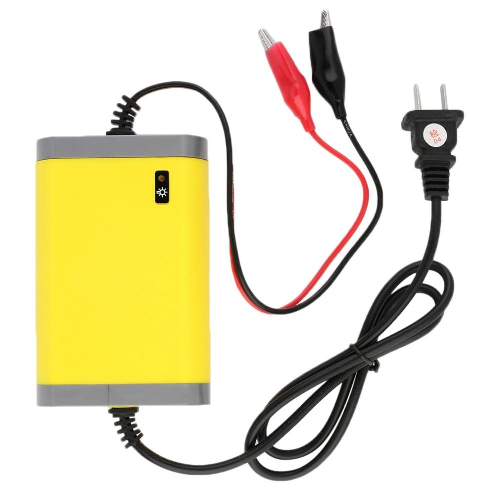 Newest Car Battery Charger 12V 2A US Plug Fully-automatic Car Motorcycle Battery Charger Adaptor Power Supply Free Shipping