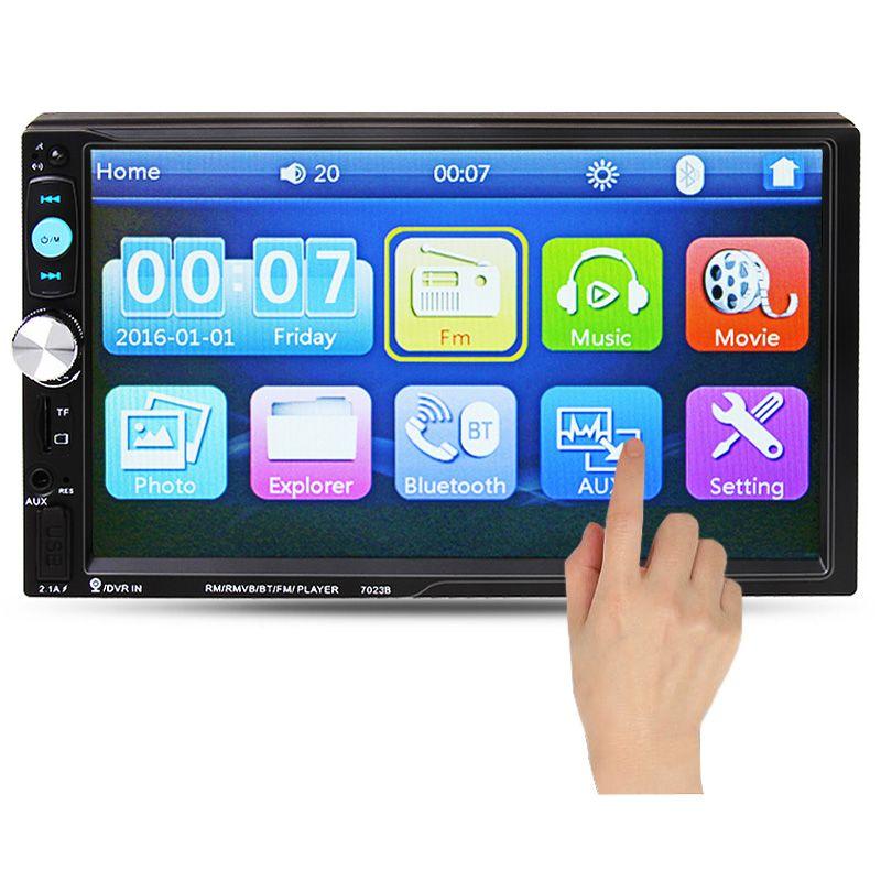 2 Din Автомобильный Радио MP5 Игрок 7 ''HD Сенсорный Экран Bluetooth Телефон Стерео Радио FM/MP3/MP4/аудио/Видео/USB Электроника Авто В Тире