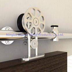 Dimon personnalisé SUS 304 coulissante quincaillerie de porte en bois porte coulissante matériel Amérique style porte coulissante matériel DM-SDS 7104