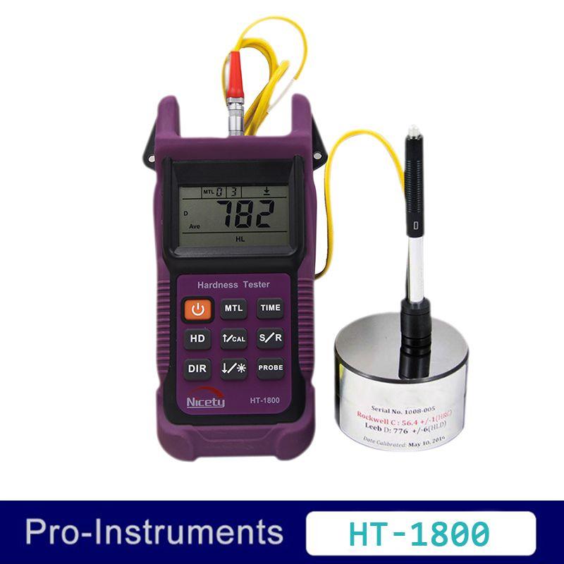 Nicety HT1800 Portable Rebound Leeb Hardness Tester Meter Durometer for Metal Steel
