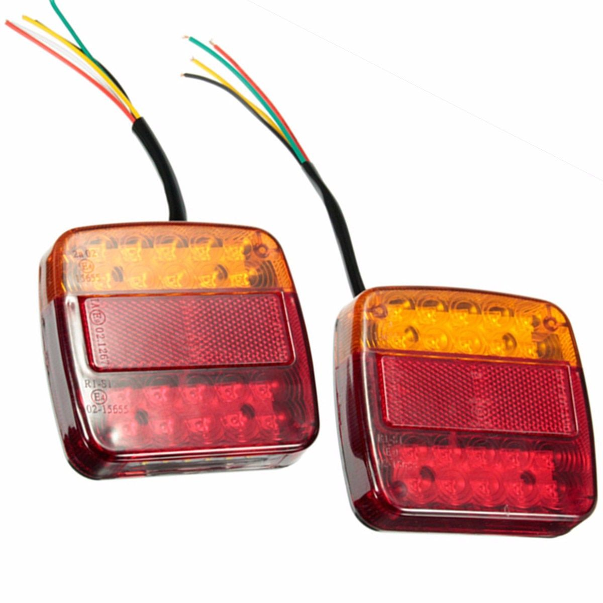1 Pair New Car 12V 20LED Trailer Tail Light Left and Right Taillight Truck Car Van Lamp