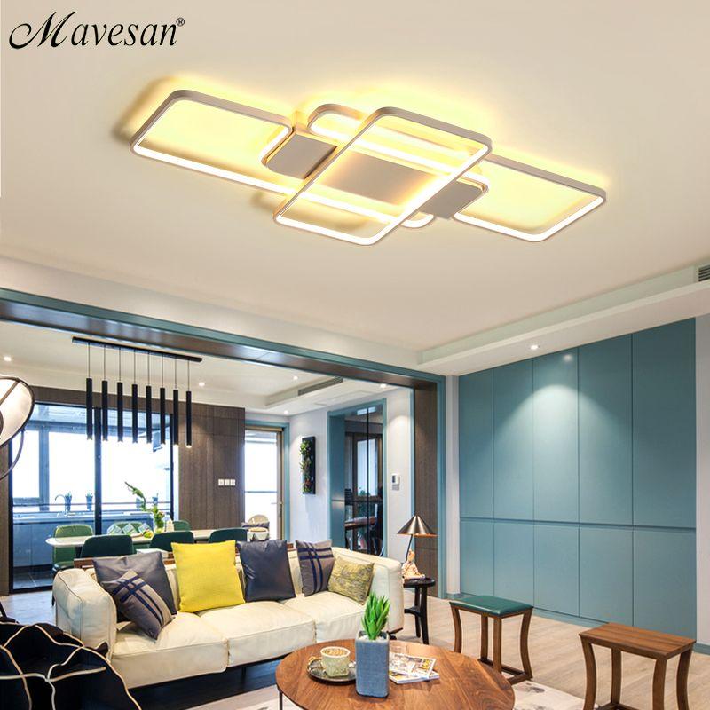 New Remote control led ceiling lights living room restaurant luminarias para sala dimming ceiling light acrylic indoor light