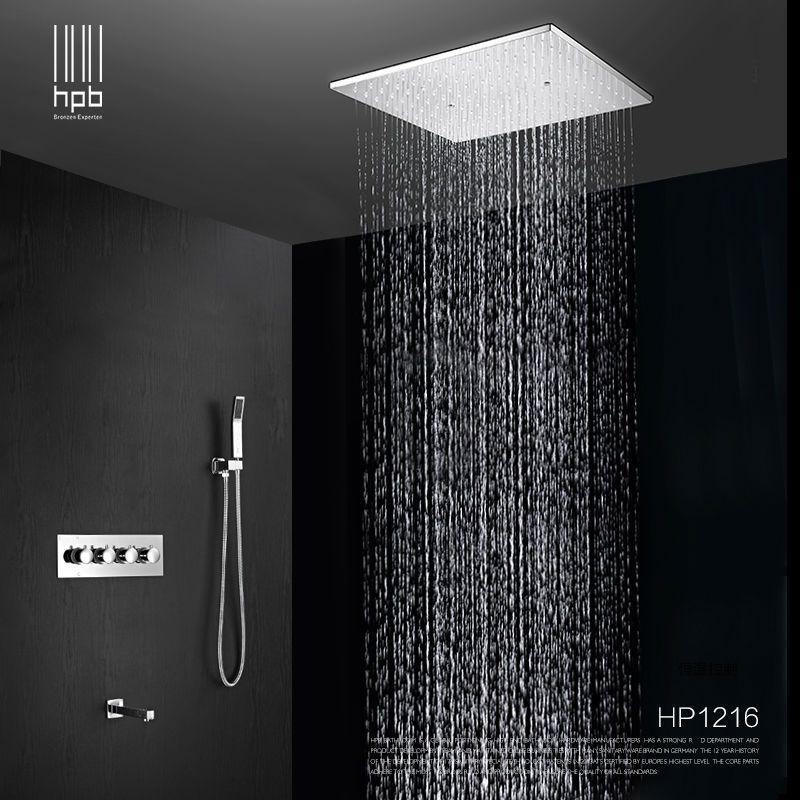 HPB Messing Bad Heißem und Kaltem Wasser Mixer Deckenmontage Duschkopf Bad Regen Brausegarnitur Wasserhahn torneira banheiro HP1216