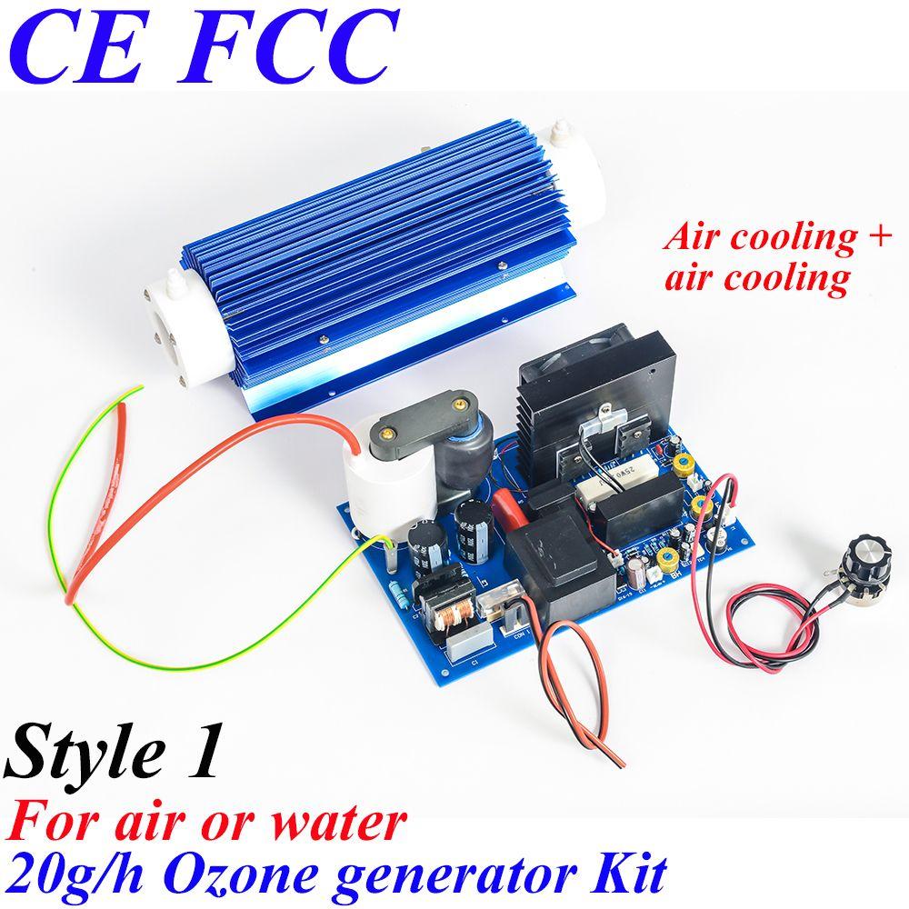 Pinuslongaeva CE EMC LVD FCC 20g/h Quartz tube type ozone generator Kit ozone vegetable fruit sterilizer air purifier ozone ion