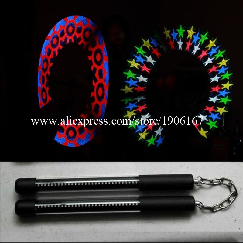 Full Color 30 Pixels Led POI Magic Sticks LED Programmable Performances Nunchakus For Party Stage Show