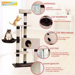 Gato doméstico juguete cama colgante bolas árbol Kitten muebles rascadores madera sólida para gatos escalada marco del gato condominios