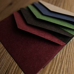22*11cm Vintage Retro Colored Blank Kraft Paper Envelopes Wedding Party Invitation Envelope Greeting Cards Gift Envelope