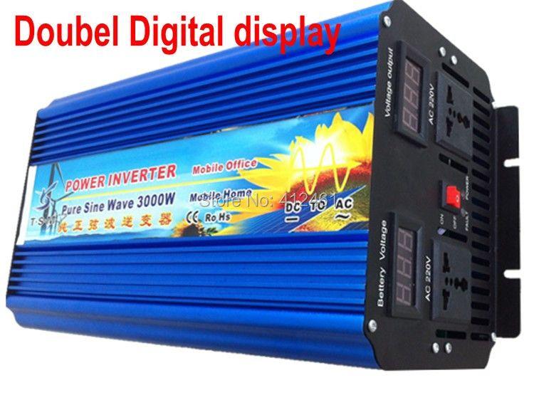 Inverter Solar Hybrid Off-Grid DC Zu AC Reine Sinuswelle Inverter 3000 Watt 12 V 220 V Für Den Heimgebrauch 3000 Watt ren sinuskurve wechselrichter