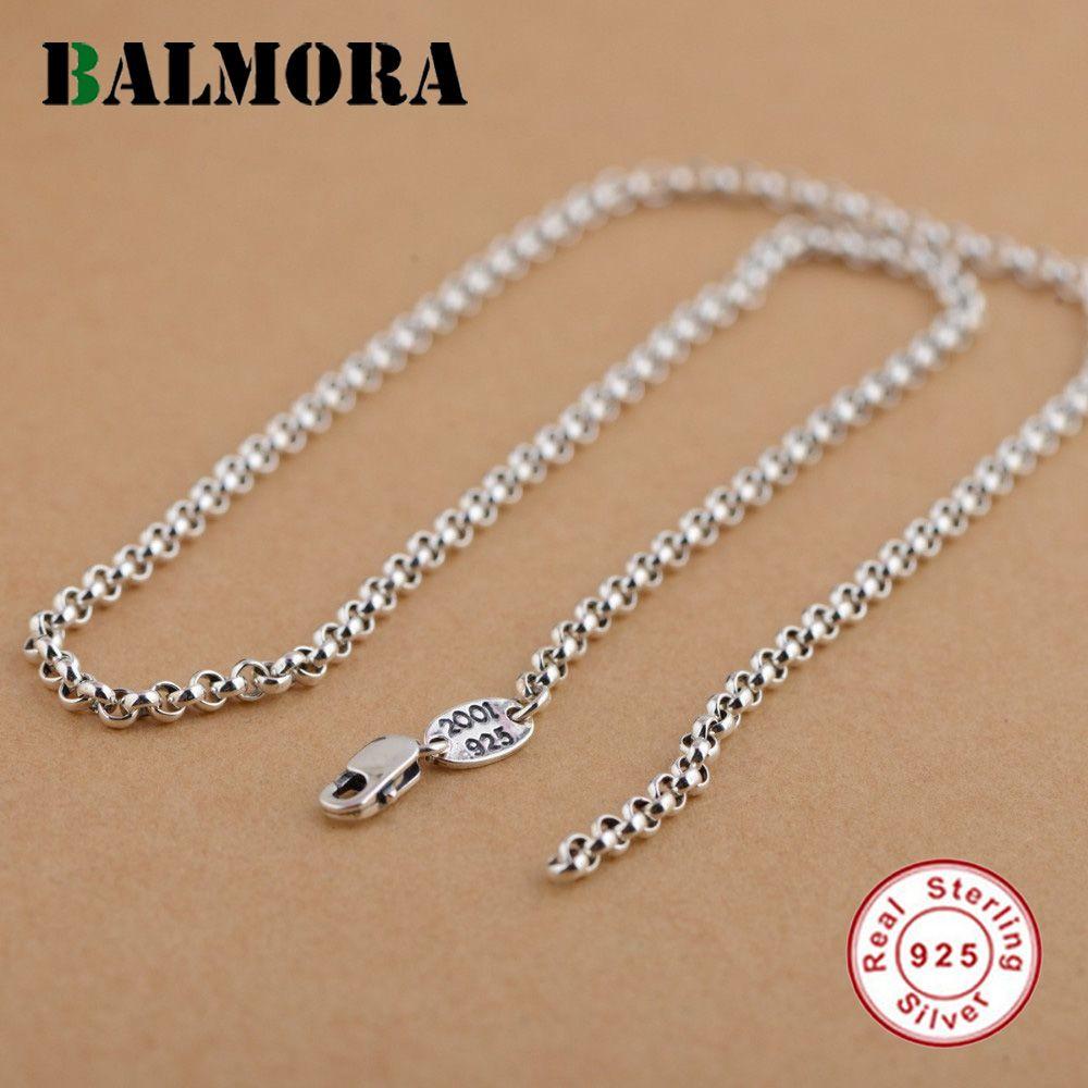 Balmora 100% Pure 925 пробы Серебряные ювелирные изделия Цепи Ожерелья для мужчин для Для женщин Для мужчин кулон Интимные аксессуары Оптовая продаж...
