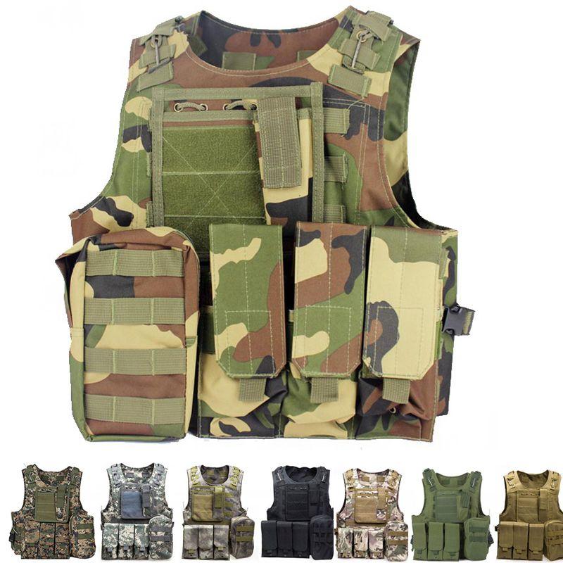 Taktische Weste Amphibien Schlacht Military Molle Angriffs-platten-förder Weste Jagd Schutz Weste Camouflage