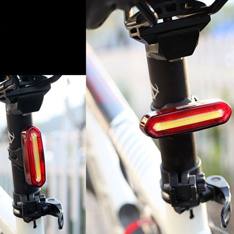 100 LM Rechargeable LED USB Mountain Bike Tail Light Taillight Safety Warning Bicycle Rear Light Night riding COB warning lights