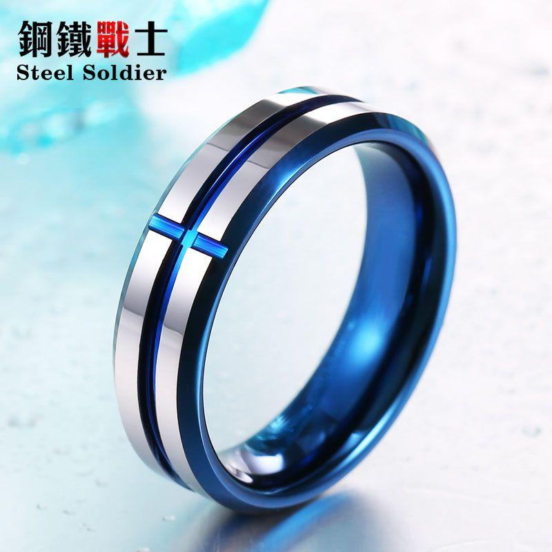 Acier soldat de haute polonais 100% Réel Mode 6mm conise De Tungstène De Tungstène anneau anneau de mariage de bonne qualité hommes et femmes bijoux