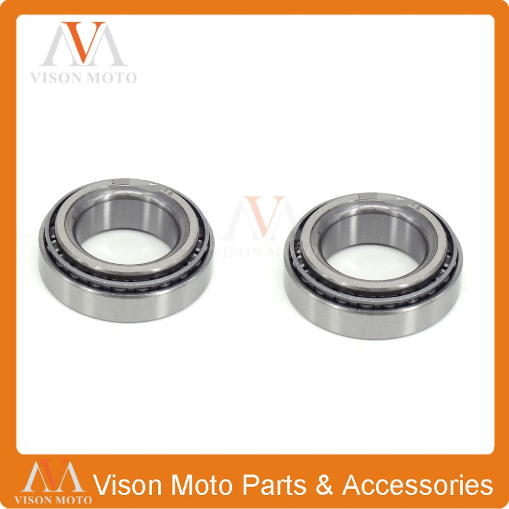 2PCS Motorcycle Bearing Hub Steering Stem Steering Head For HONDA CR125R 1990 1991 1992 CR250R CR500R 90-01 XR650R 2000-2007