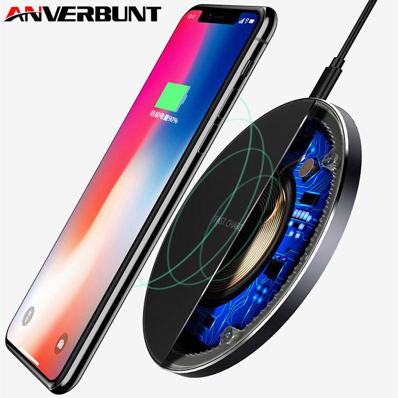 Qi Sans Fil Chargeur 10 W Rapide Pour iPhone 8 Plus X Sans Fil de charge Pad Pour Samsung S8 Note 8 Rapide Wireless Chargeur pour téléphone