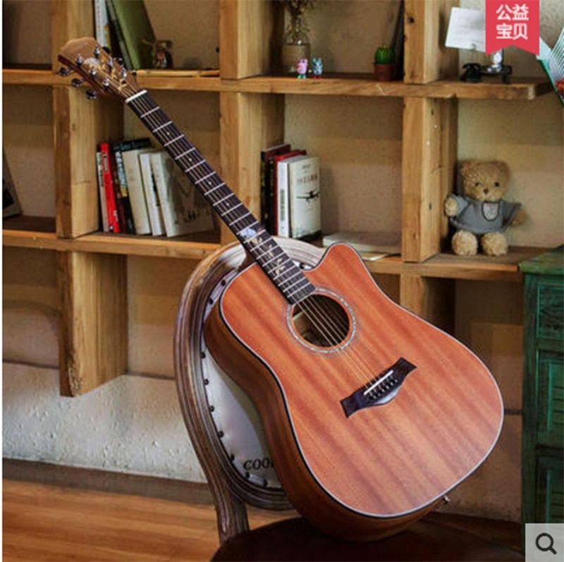 Andrew andrew 40 inch 41 inch veneer folk guitar noodles single fingerboard carved male and female board practice piano