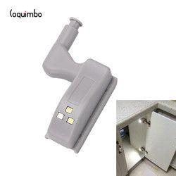 Coquimbo 2/5 paquetes interior bisagra LED sensor bajo luces del Gabinete de cocina dormitorio armario luz de la noche con pilas