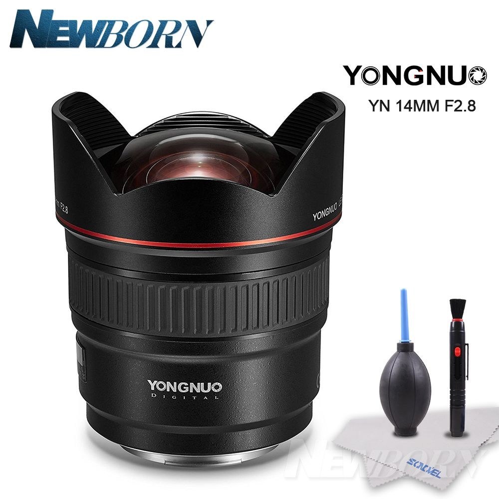 Yongnuo Lens YN14mm F2.8 AF MF Autofocus Ultra Wide Angle Prime Lens 14mm for Canon 5D Mark III IV 6D 700D 80D 70D DSLR Camera