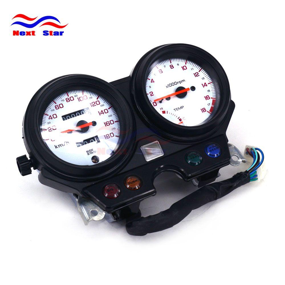 Motorrad Tachometer Clock Instrument Gauges Kilometerzähler Tachometer Für HONDA CB250 HORNET 250 1998 1999 Straße Bike Weiß Boden