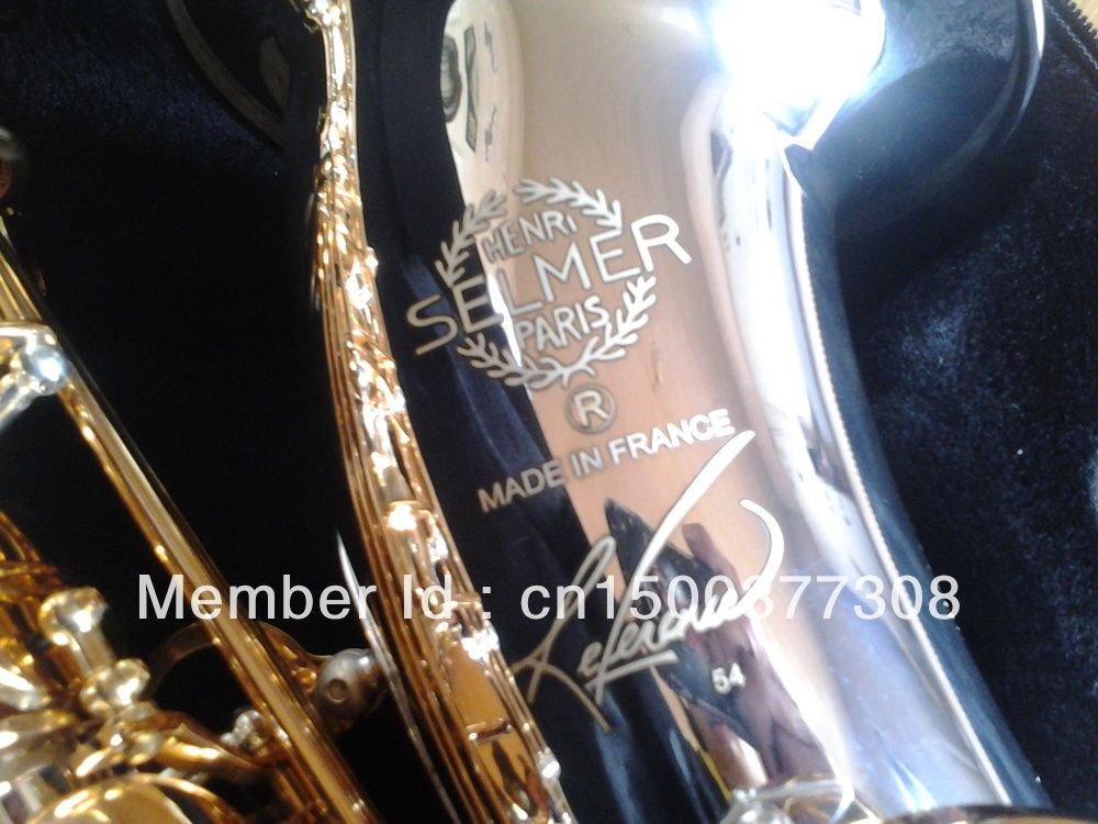 France Henry SELMER Reference 54 Tenor Saxophone Professional Instrument Music Drop B Adjustable Gold Plated Sax