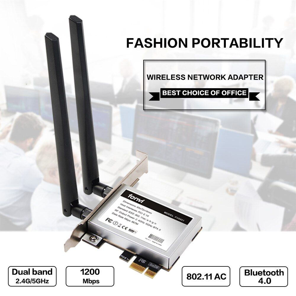 Desktop Dual band 867Mbps 802.11ac Intel 7260 AC1200 Wireless PCI-E Wifi Bluetooth Card PCI Express Antenna Adapter Wi-fi+BT 4.0