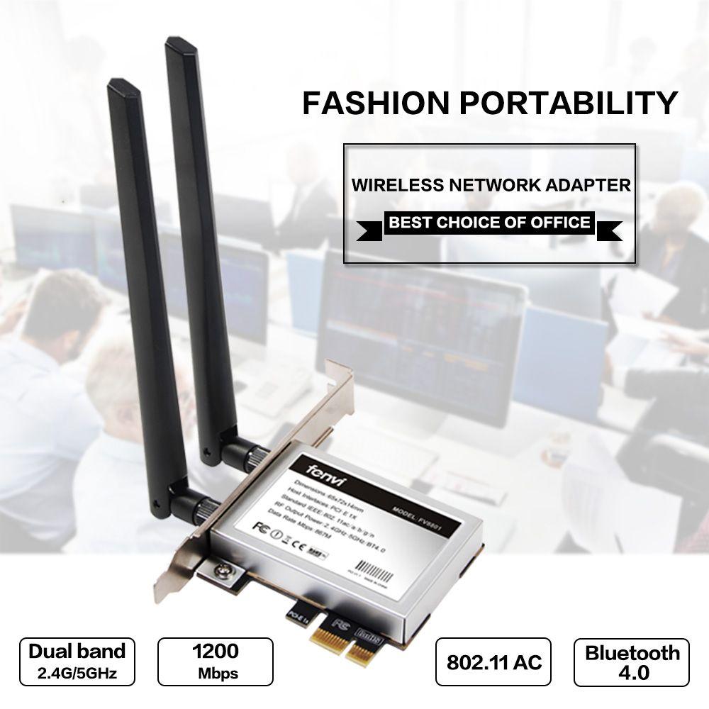 Desktop Dual band 867Mbps 802.11ac Intel 7260 AC1200 Wireless PCI-E Wifi Bluetooth Card PCI Express Antenna Adapter Wi-fi+BT 4.0