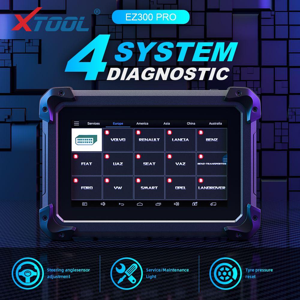 XTool EZ300 Pro Mit 5 Systeme Diagnose Motor, ABS, SRS, Übertragung und TPMS Besser als MD802, TS401 Freies Update Online