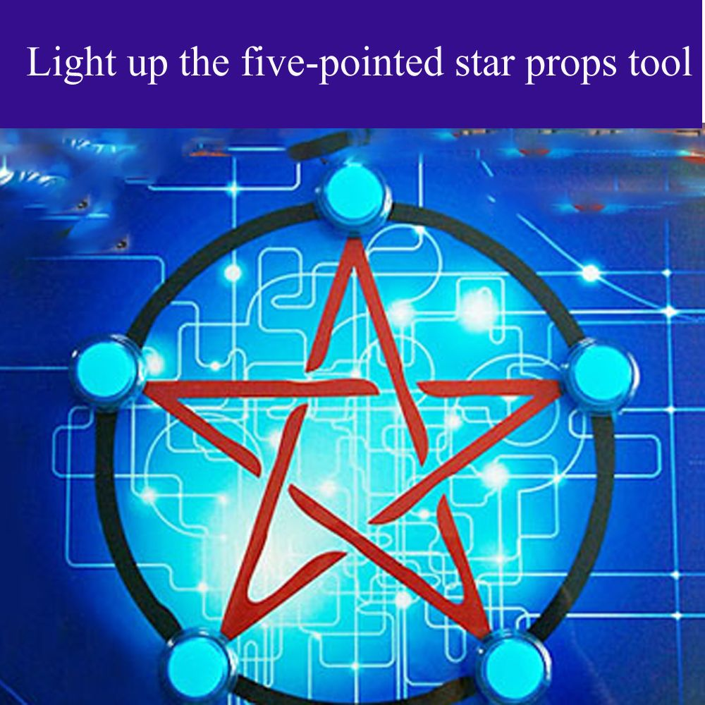 pentagonal star panel 30*30cm Reality room escape props Light up the five-pointed star props tool With sound accessories