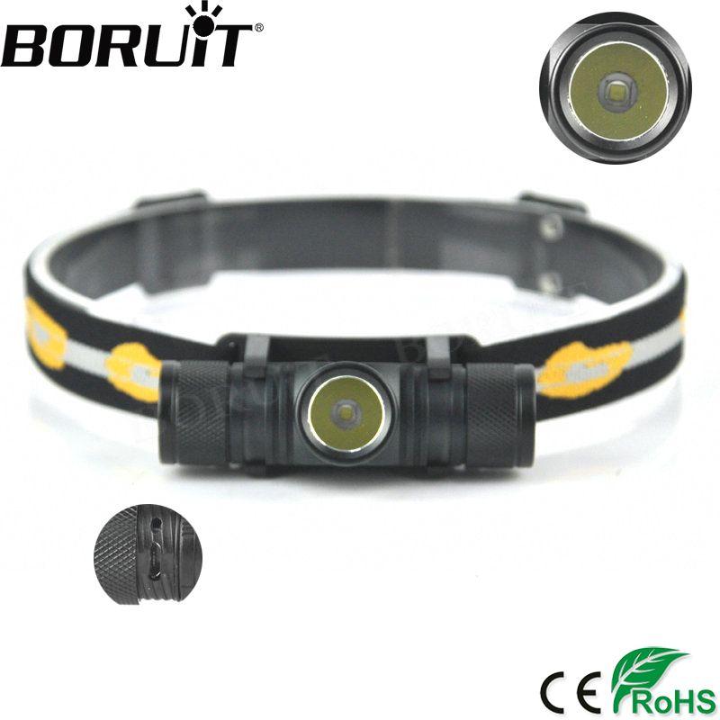 BORUiT 5000LM XM-L2 LED Projecteur USB De Charge Interface Vélo Phare 4-Mode Gradation Tête Torche Camping Pêche De Poche