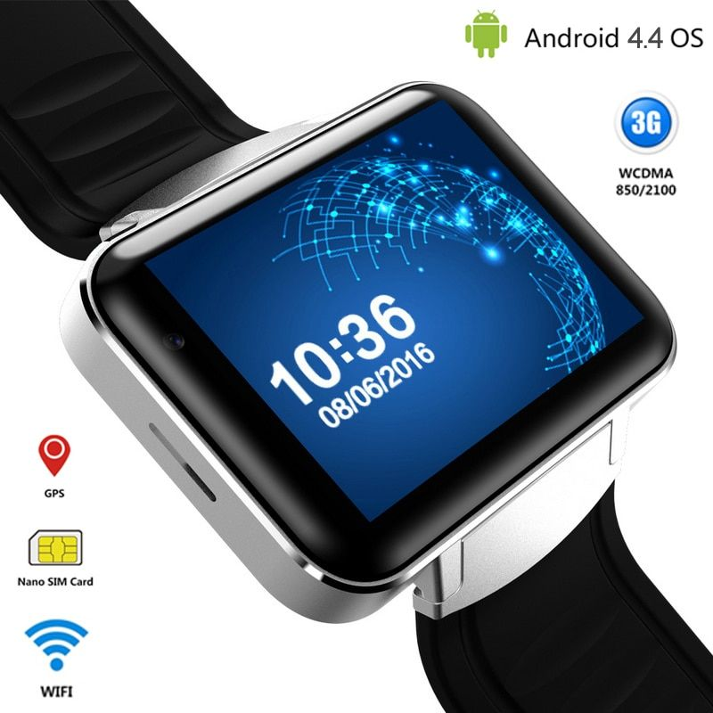 3g Android Montre Intelligente Téléphone Bluetooth Quad Core Sport Montre-Bracelet DM98 Smartwatch Soutient WCDMA GPS Wifi Whatsapp Skype 2017