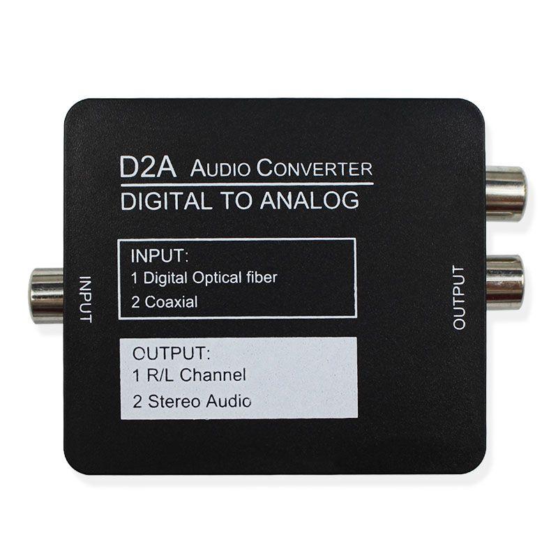 Numérique à Analogique Audio Converter Adaptateur Noir Mini Numérique Optique Coaxial RCA/Toslink Signal avec Écouteur port