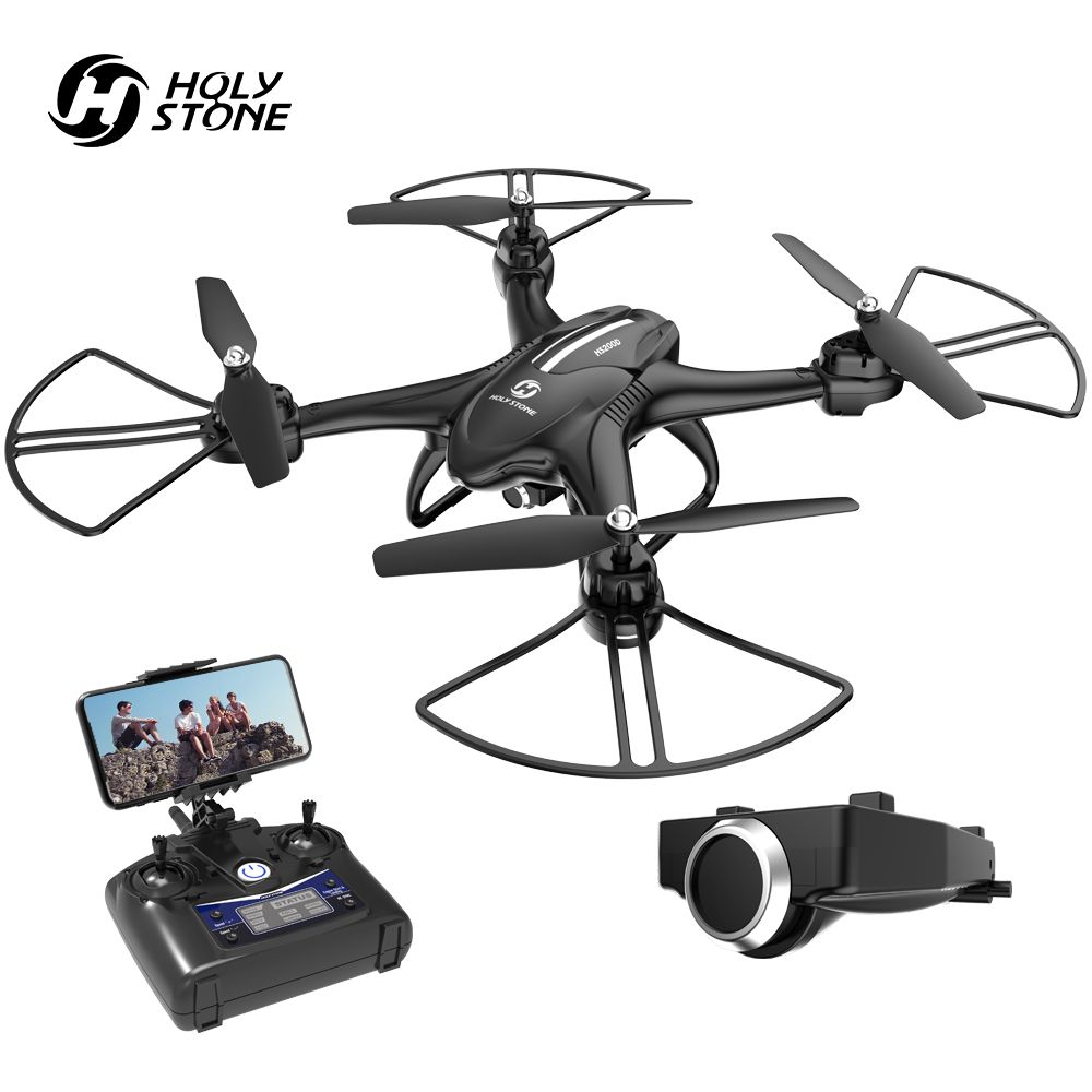 Holy Stone HS200D FPV RC Drone with Camera WiFi RC Helicopter APP Contral Altitude Hold Headless Mode 3D Flips Modular Battery