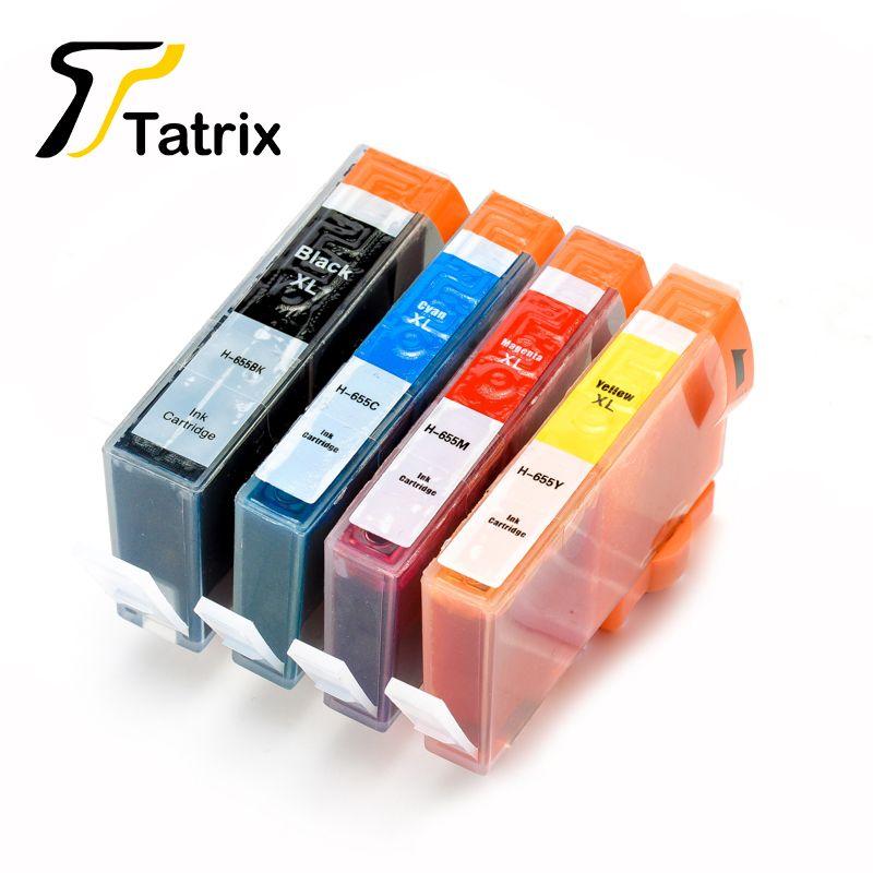 Pour Hp 655 BK/C/M/Y Cartouche D'encre Compatible Avec Puce Pour Hp Imprimante Deskjet Avantage D'encre 3525/4615/4625/5525/6520/6525